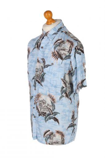 Vintage Batik Bay Island Printed Hawaiian Shirt M Turquoise SH3414-97091
