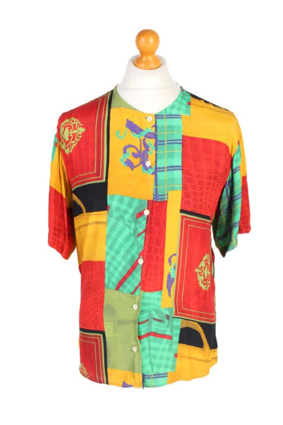 Vintage Crazy Fashion Designer Hawaiian Shirt S Multi SH3423-0
