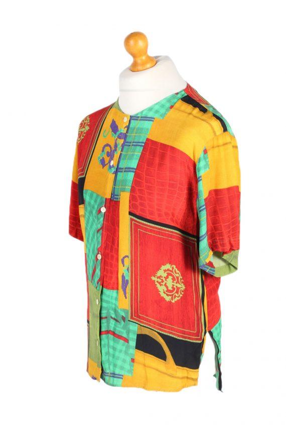 Vintage Crazy Fashion Designer Hawaiian Shirt S Multi SH3423-97484