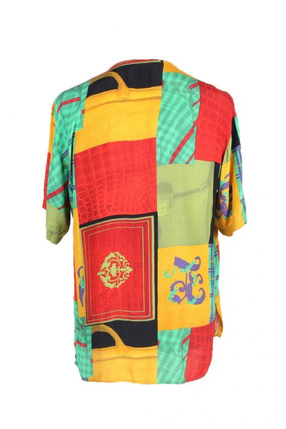 Vintage Crazy Fashion Designer Hawaiian Shirt S Multi SH3423-97485