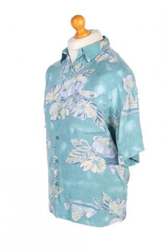 Vintage Inspire Inside Floral Printed Hawaiian Shirt L Mint SH3425-97492