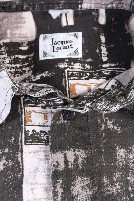 Vintage Jacques Lorant Fashion Designer Hawaiian Shirt M/L Multi SH3429-97510