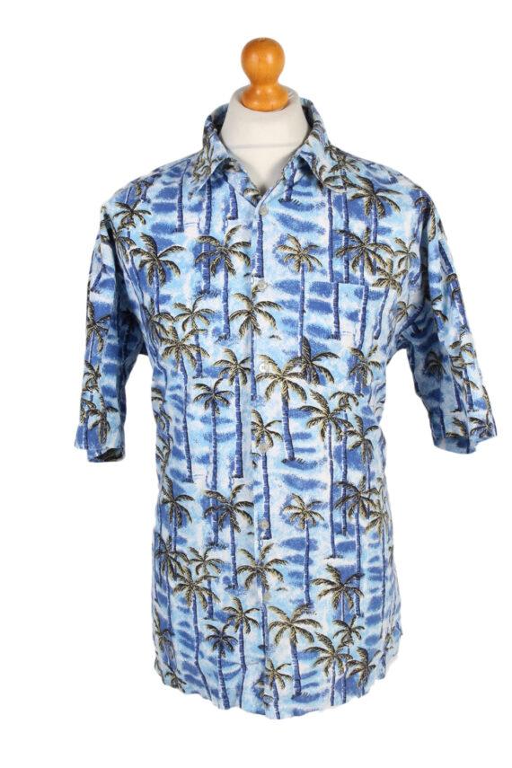 Vintage Tailor&Son Palm Printed Hawaiian Shirt L Blue SH3431-0