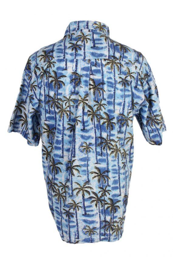 Vintage Tailor&Son Palm Printed Hawaiian Shirt L Blue SH3431-97517