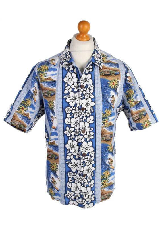 Vintage Hawaiian Shirt Reserve Island Printed XL Multi SH3440-0