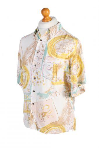 Vintage Hawaiian Shirt Silver Stone Crazy Printed XL Multi SH3454-98014