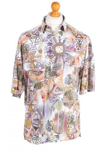 Hawaiian Shirt 90s Retro Summer Aloha Multi M