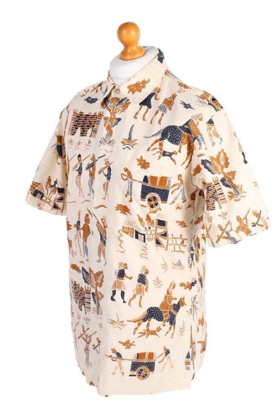Vintage Hawaiian Shirt By Hagi Eqypt Printed XL Mustard SH3460-98038