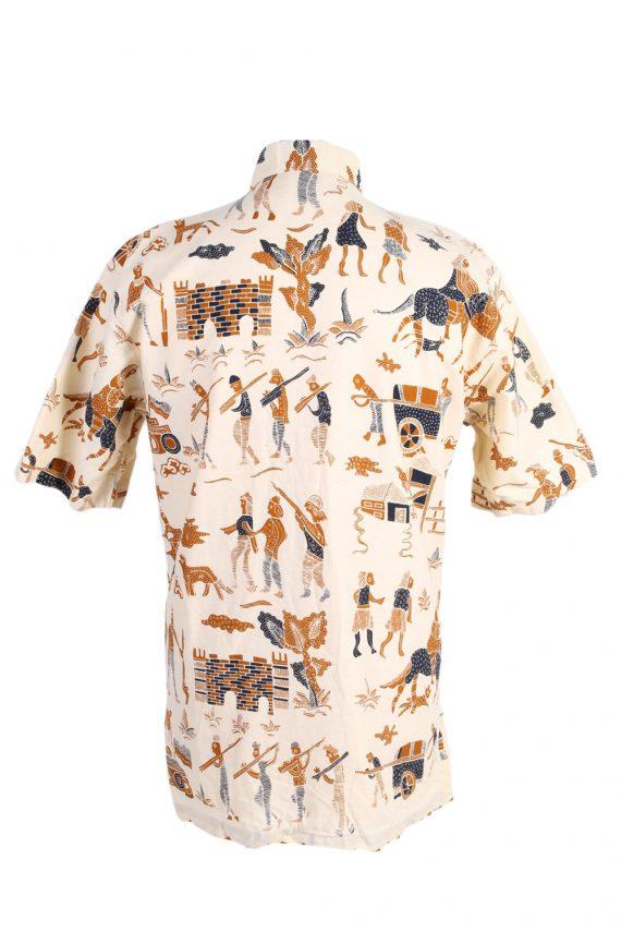 Vintage Hawaiian Shirt By Hagi Eqypt Printed XL Mustard SH3460-98039