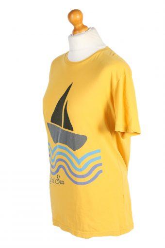 Vintage Jack&Jones T-Shirt Denim Lost at Sea L Yellow TS301-97886