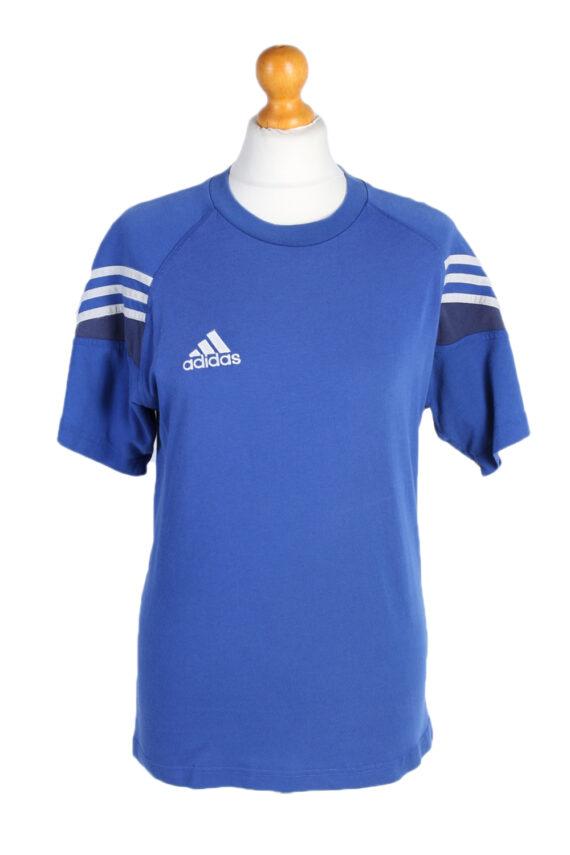 Vintage Adidas T-Shirt Three Stripes |M Blue TS304-0