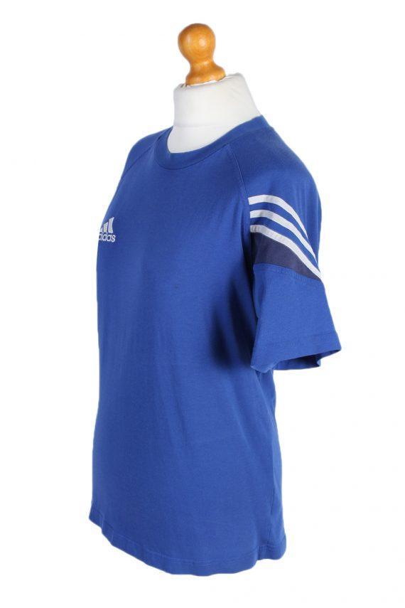 Vintage Adidas T-Shirt Three Stripes |M Blue TS304-97898