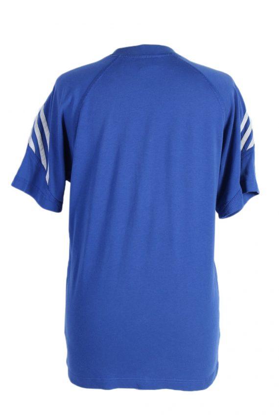 Vintage Adidas T-Shirt Three Stripes |M Blue TS304-97899