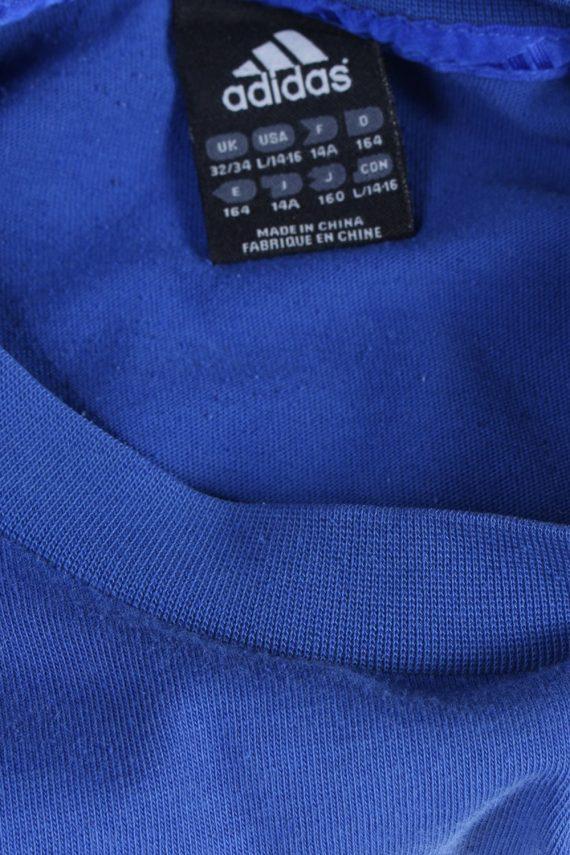 Vintage Adidas T-Shirt Three Stripes |M Blue TS304-97900