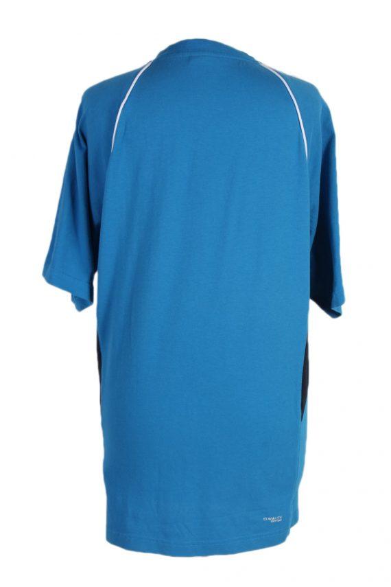 Vintage Adidas T-Shirt Three Stripes M Blue TS307-97911