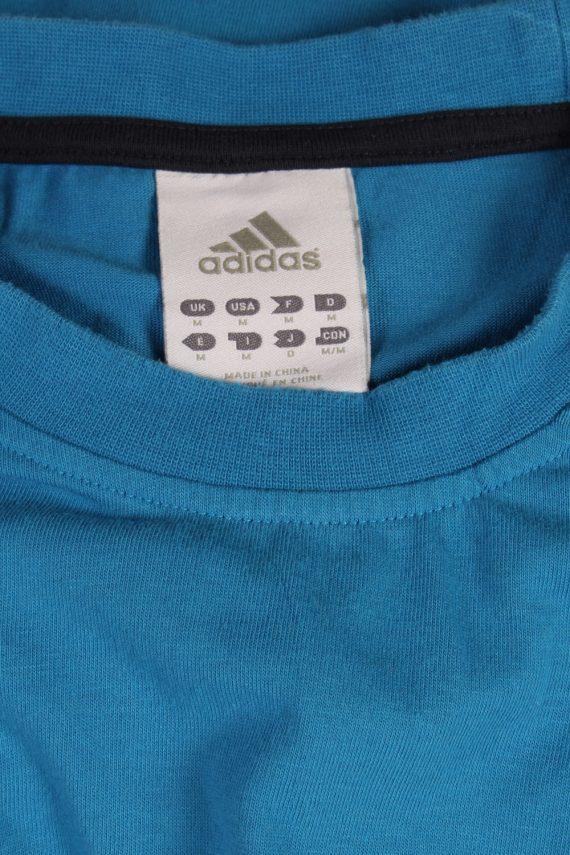Vintage Adidas T-Shirt Three Stripes M Blue TS307-97912