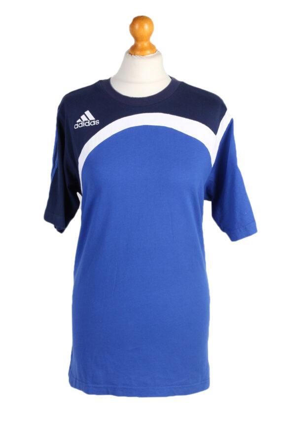 Vintage Adidas T-Shirt Three Stripes M/L Blue TS309-0