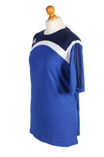 Vintage Adidas T-Shirt Three Stripes M/L Blue TS309-97918