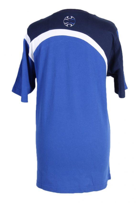 Vintage Adidas T-Shirt Three Stripes M/L Blue TS309-97919