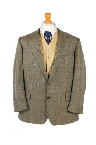 Burberry Blazer Jacket Windowpane Classic L