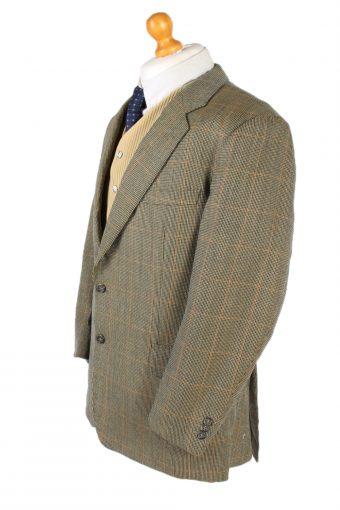 Vintage Burberry's Window Pane Classic Blazer Jacket Chest 45 Multi HT2353-99120