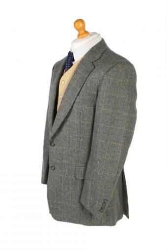 Vintage Burberry's Window Pane Classic Blazer Jacket Chest 44 Multi HT2356-99135