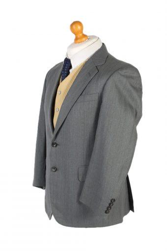 Vintage Burberry's Plain Classic Blazer Jacket Chest 40 Grey HT2360-99155