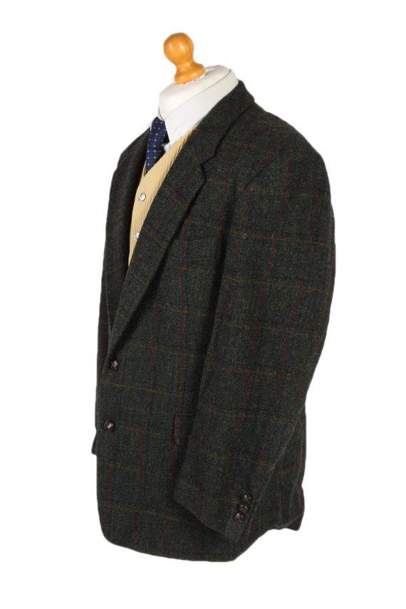 Vintage Harris Tweed Window Pane Classic Blazer Jacket Chest 46 Green HT2363-99170