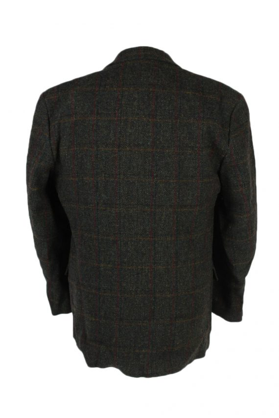 Vintage Harris Tweed Window Pane Classic Blazer Jacket Chest 46 Green HT2363-99171