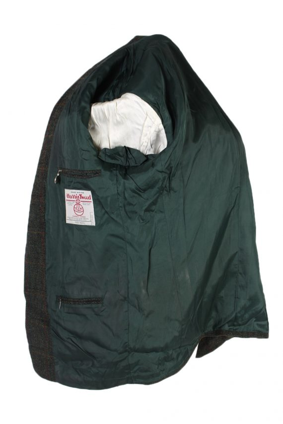 Vintage Harris Tweed Window Pane Classic Blazer Jacket Chest 46 Green HT2363-99172