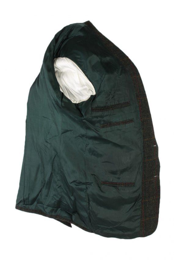 Vintage Harris Tweed Window Pane Classic Blazer Jacket Chest 46 Green HT2363-99173