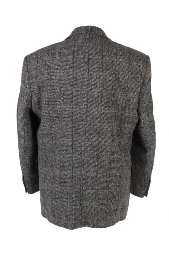 Vintage Harris Tweed Window Pane Classic Blazer Jacket Chest 45 Grey HT2376-99236