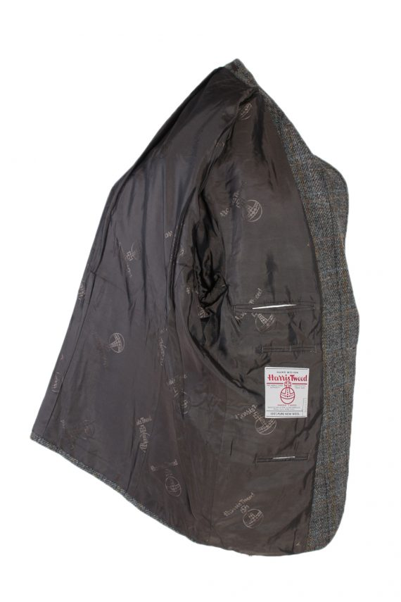 Vintage Harris Tweed Window Pane Classic Blazer Jacket Chest 45 Grey HT2376-99237