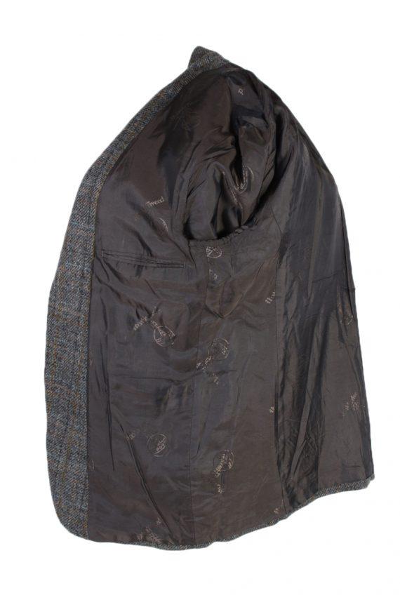 Vintage Harris Tweed Window Pane Classic Blazer Jacket Chest 45 Grey HT2376-99238