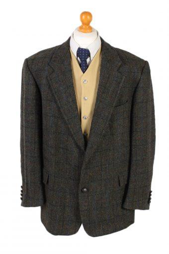 Harris Tweed Blazer Jacket Mc Neal Windowpane XL