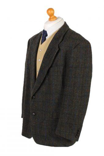 Vintage Harris Tweed Mc Neal Window Pane Blazer Jacket Chest 47 Multi HT2449-99642