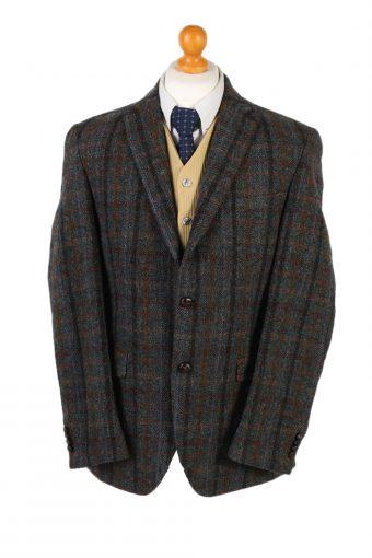 Harris Tweed Blazer Jacket Dress Master Windowpane Patched M