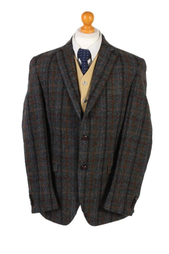 Vintage Harris Tweed Dress Master Window Pane Patched Blazer Jacket Chest 43 Multi HT2454-0