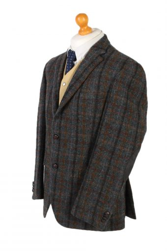 Vintage Harris Tweed Dress Master Window Pane Patched Blazer Jacket Chest 43 Multi HT2454-99667