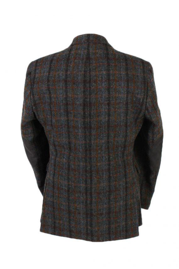 Vintage Harris Tweed Dress Master Window Pane Patched Blazer Jacket Chest 43 Multi HT2454-99668
