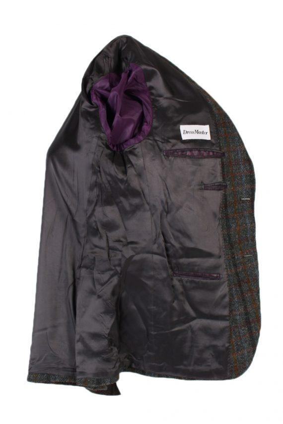 Vintage Harris Tweed Dress Master Window Pane Patched Blazer Jacket Chest 43 Multi HT2454-99670