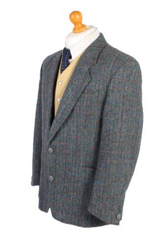 Vintage Harris Tweed Commander Window Pane Patched Blazer Jacket Chest 45 Multi HT2467-100312