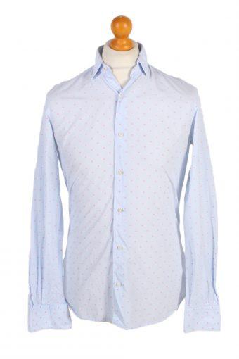 Massimo Dutti Shirt Tessuto Italiano Blue S