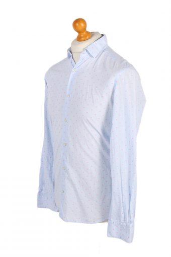Vintage Massimo Dutti Tessuto Italiano Shirt S Blue SH3476-100053