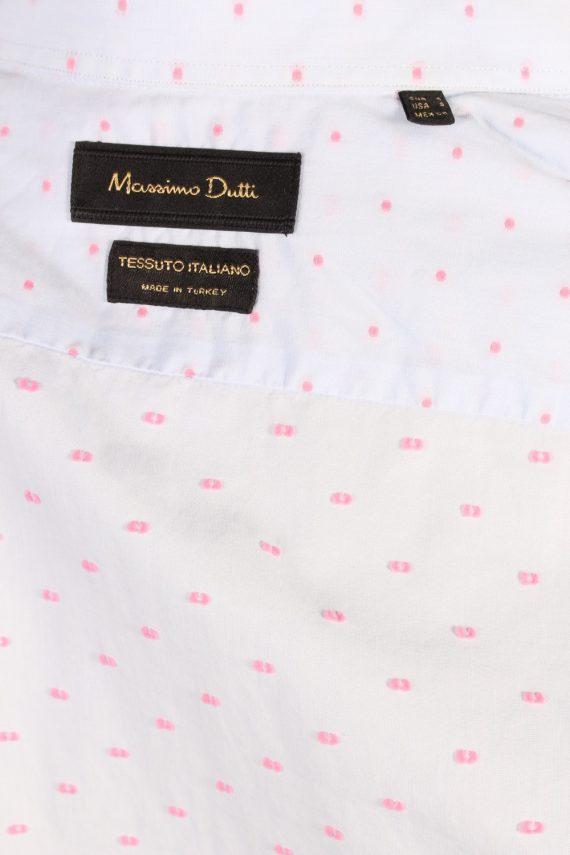 Vintage Massimo Dutti Tessuto Italiano Shirt S Blue SH3476-100055