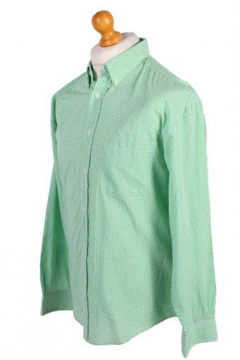 Vintage Smart Shirt Fashion Design Shirt L/XL Green SH3482-100077