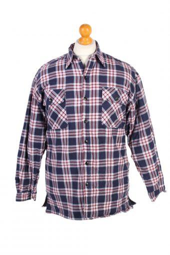 Flannel Lumberjack Check Shirt 90s Retro Multi M