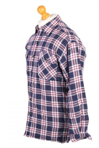 Vintage Flannel Lumberjack Check Shirt Winter Classics Casuals M Multi SH3507-100177