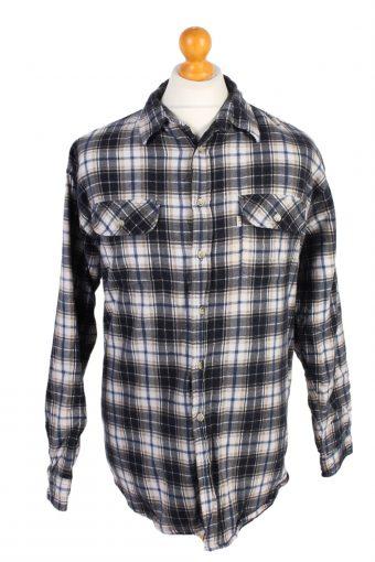 Flannel Lumberjack Check Shirt Tartan Multi XL