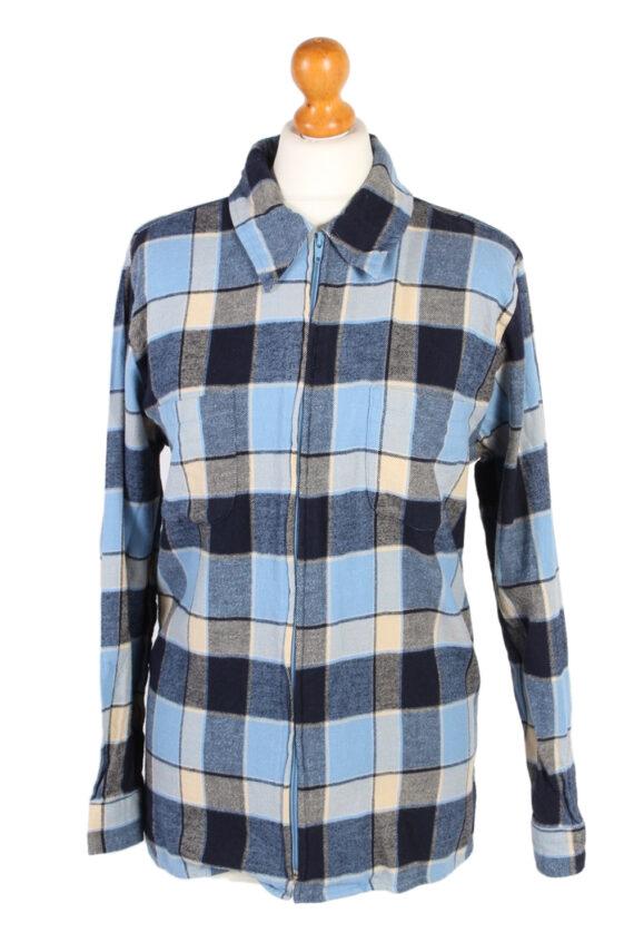 Vintage Flannel Shirt Gina Benotti Printed Corduroy M Multi SH3541-0